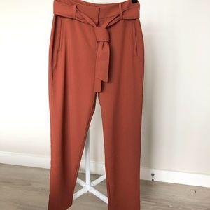 Halogen Rust Sequoia Tie Waist Twill Pants